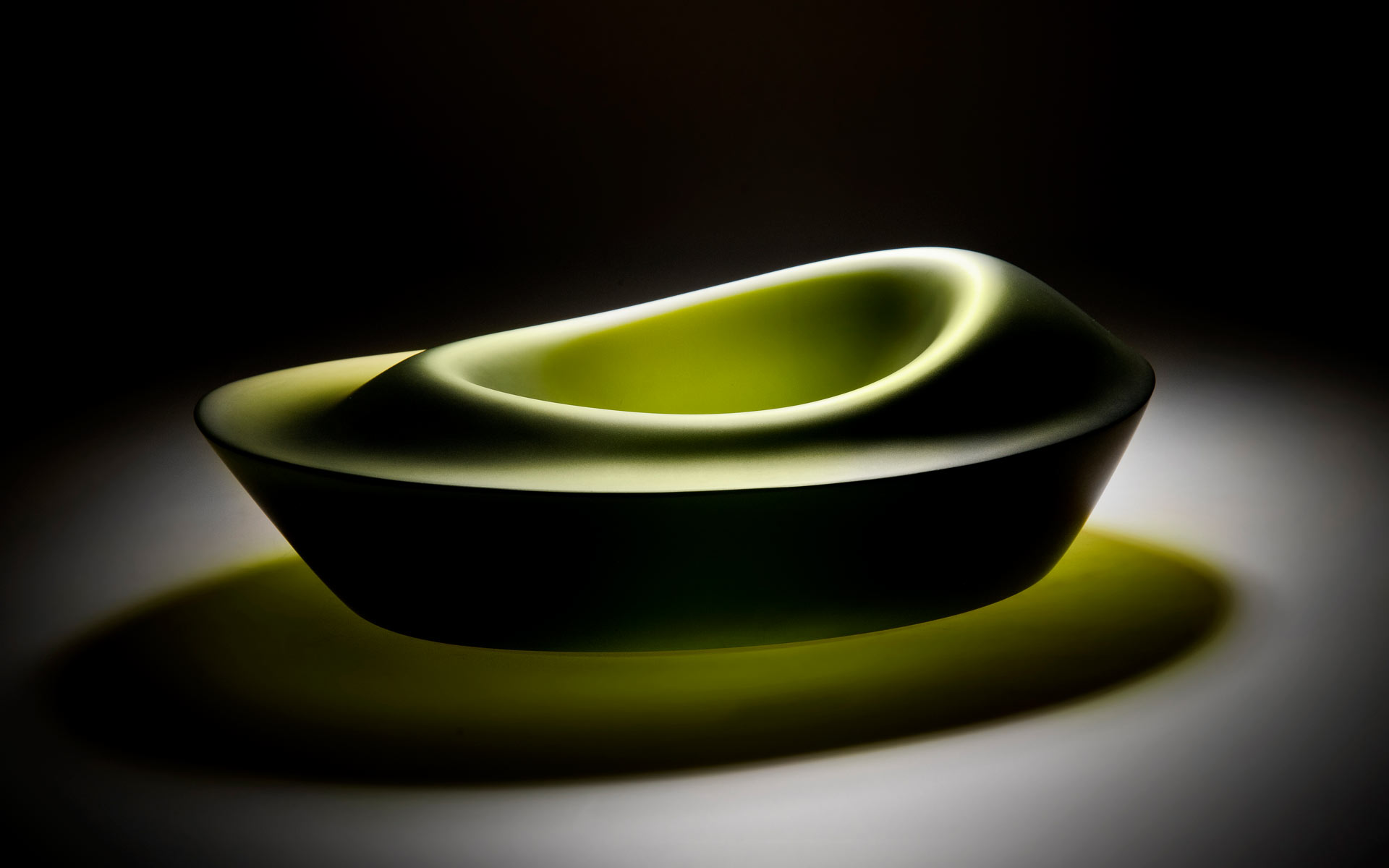 Ripple Series - Green Bowl Form