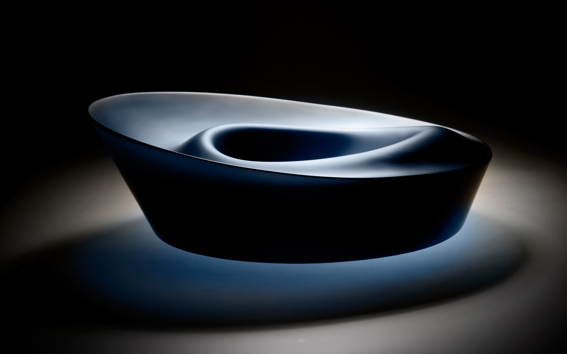 Ripple Series - Blue Bowl Form